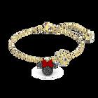 Minnie Bracelet, Black, Gold-tone plated