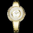 Crystalline Bracelet Watch, Gold Tone