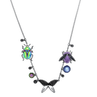Magnetized Necklace, Multi-colored, Black Ruthenium plated