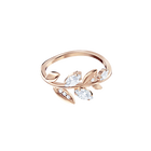 Mayfly Ring, White, Rose Gold Plating