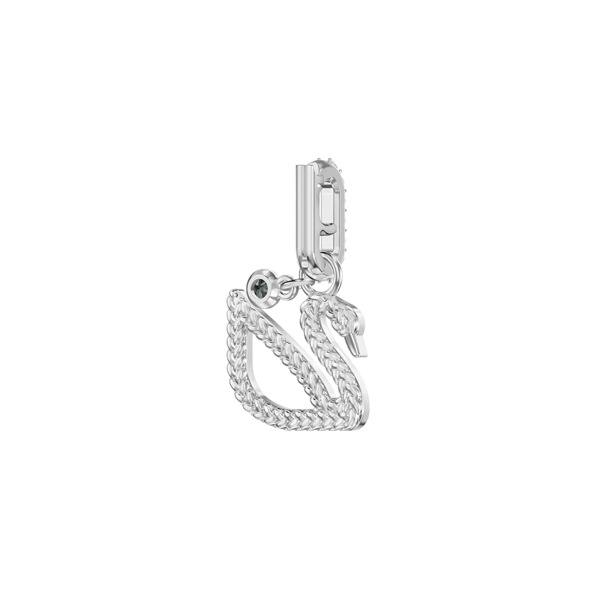 Swarovski Remix Collection Charm, Swan, White, Rhodium Plating