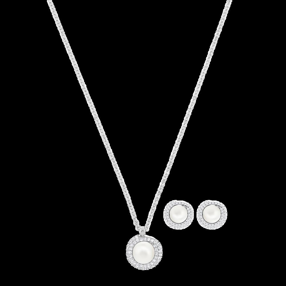 Originally Set, White, Rhodium plating