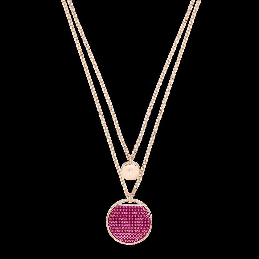 Ginger Pendant, Pink, Rose gold plating