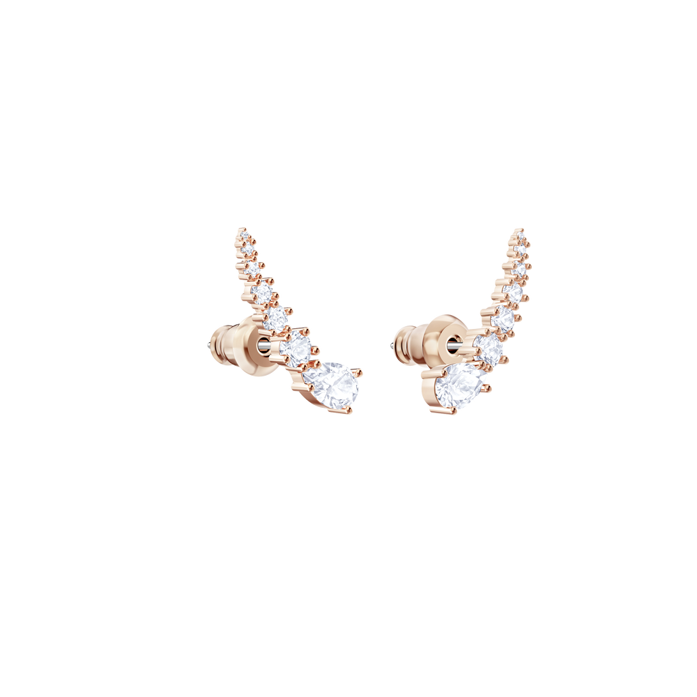 Penélope Cruz Moonsun Earrings, White, Rose gold plating