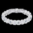 Angelic Square Bracelet, Blue, Rhodium Plating