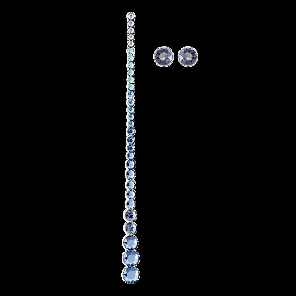 Ocean View Pierced Earrings, Multi-colored, Rhodium plating