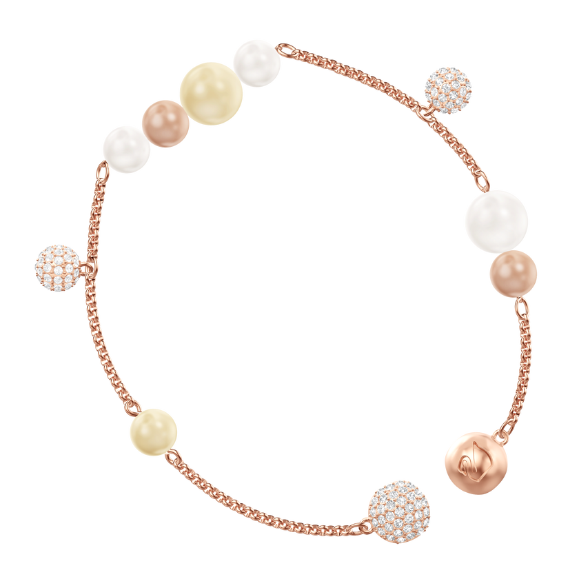 Swarovski Remix Collection Pearl Strand, Multi-colored, Rose gold plating