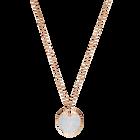 Ginger Pendant, White, Rose gold plating