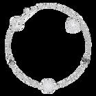 Swarovski Remix Collection Lock, White, Rhodium Plating