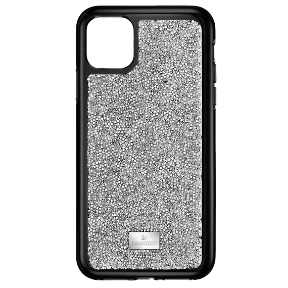 Glam Rock Smartphone Case with Bumper, iPhone® 11 Pro, Silver tone