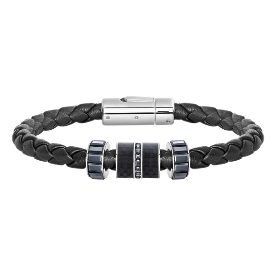 Diagonal Bracelet Leather