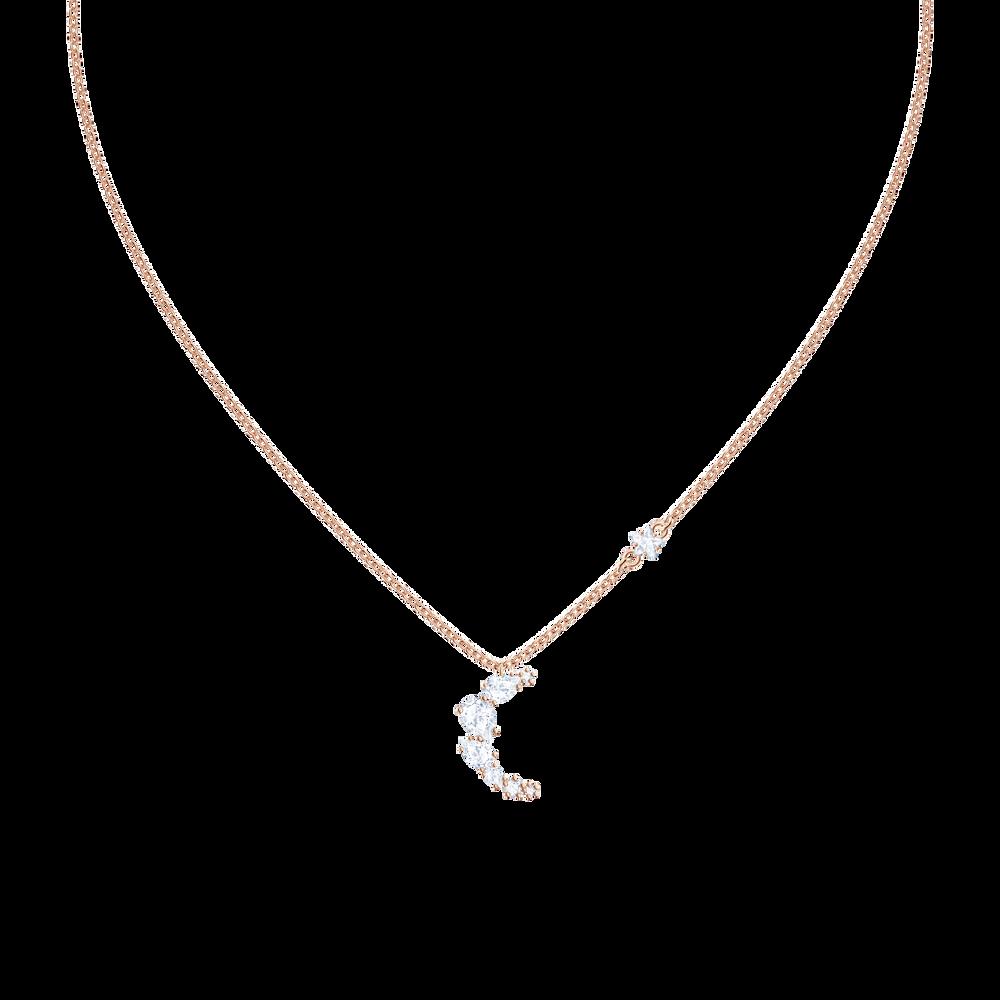 Penélope Cruz Moonsun Necklace, White, Rose gold plating