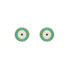 Luckily Pierced Earrings, Multi-colored, Gold plating