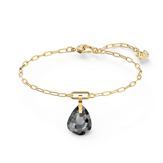 T Bar Bracelet, Grey, Gold-tone plated