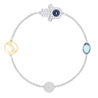The Swarovski Remix Collection, Hamsa Hand Symbol, Blue, Mixed Plated