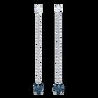 Vintage Pierced Earrings, Blue, Rhodium plating