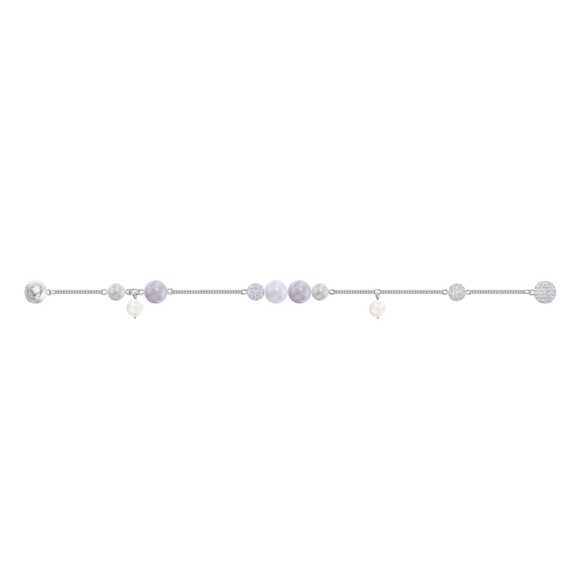 Swarovski Remix Collection Pearl Strand, Large, Multi-colored, Rhodium plating
