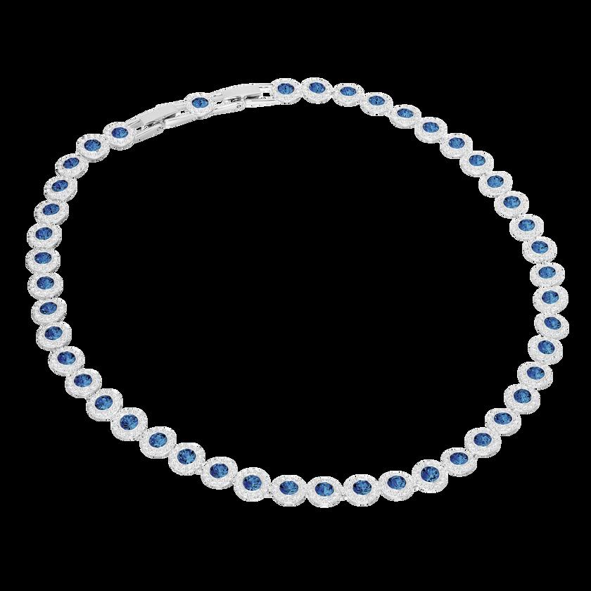 Angelic Necklace, Blue, Rhodium plating