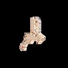 Swarovski Remix Collection Charm Arrow, White, Rose gold plating