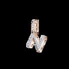 Swarovski Remix Collection Charm N, White, Rose Gold Plating