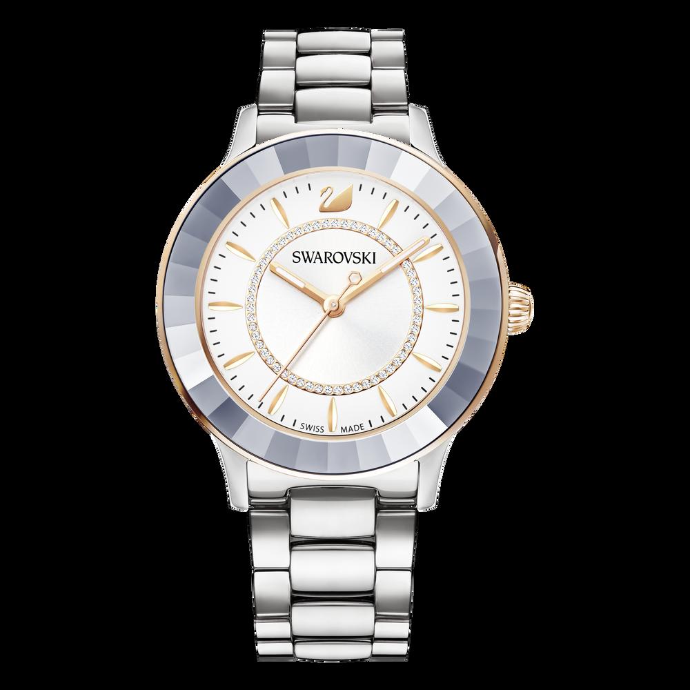 Octea Lux Watch, Metal Bracelet, Silver Tone