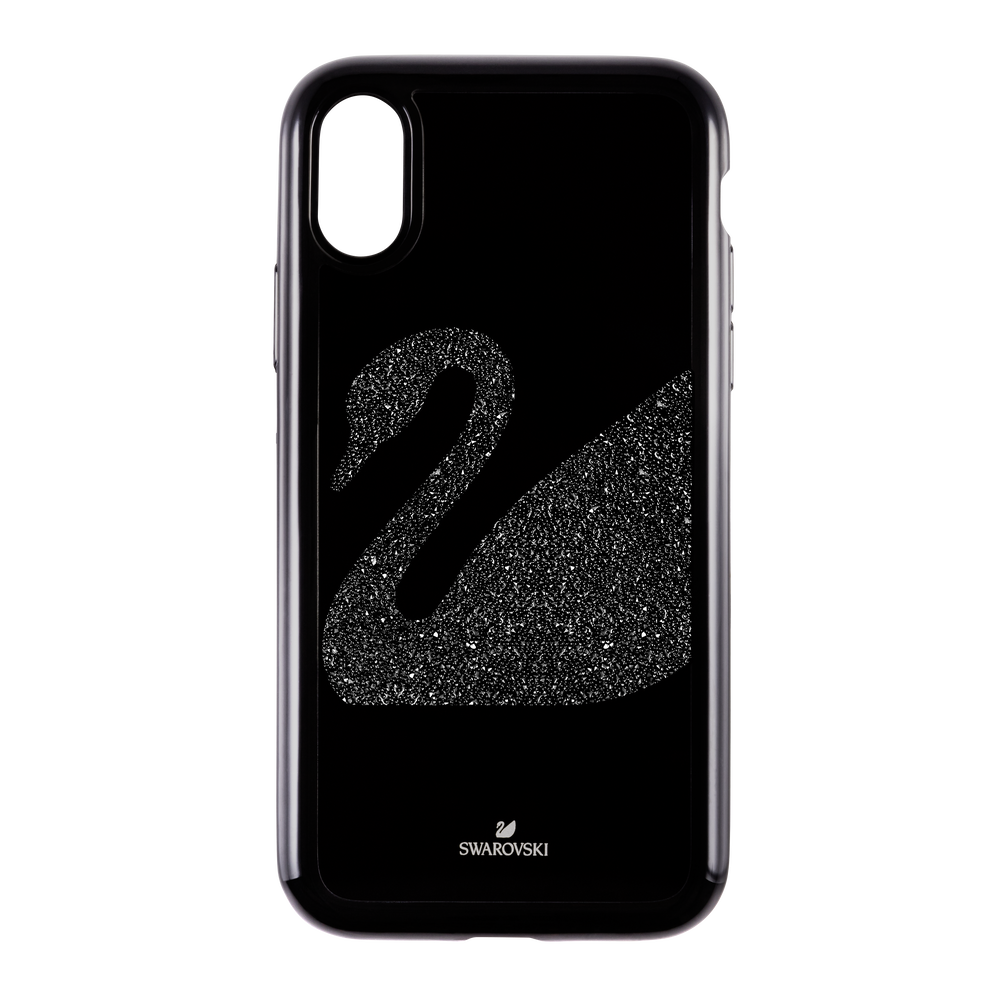 Swan Fabric Smartphone case with integrated Bumper, iPhone® X/XS, Black