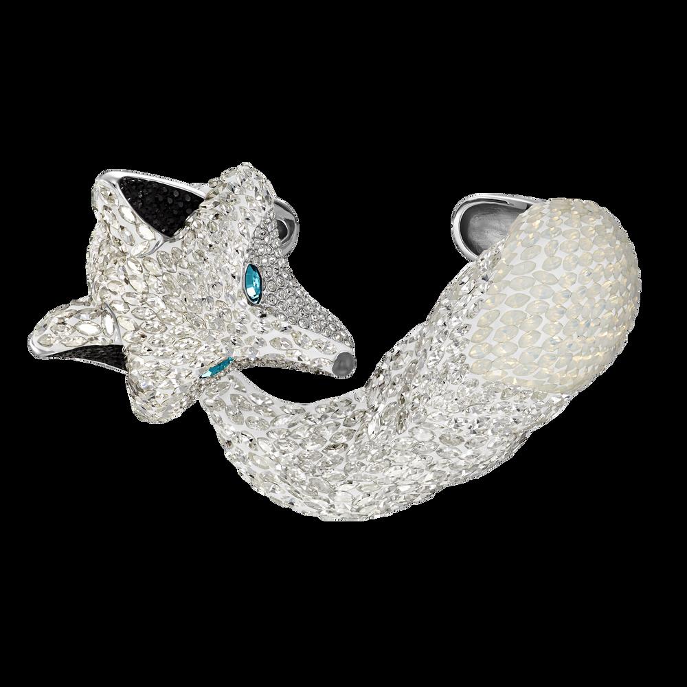 Polar Bestiary Cuff, Multi-colored, Rhodium plated