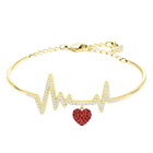 OXO Bangle, Red, Gold plating