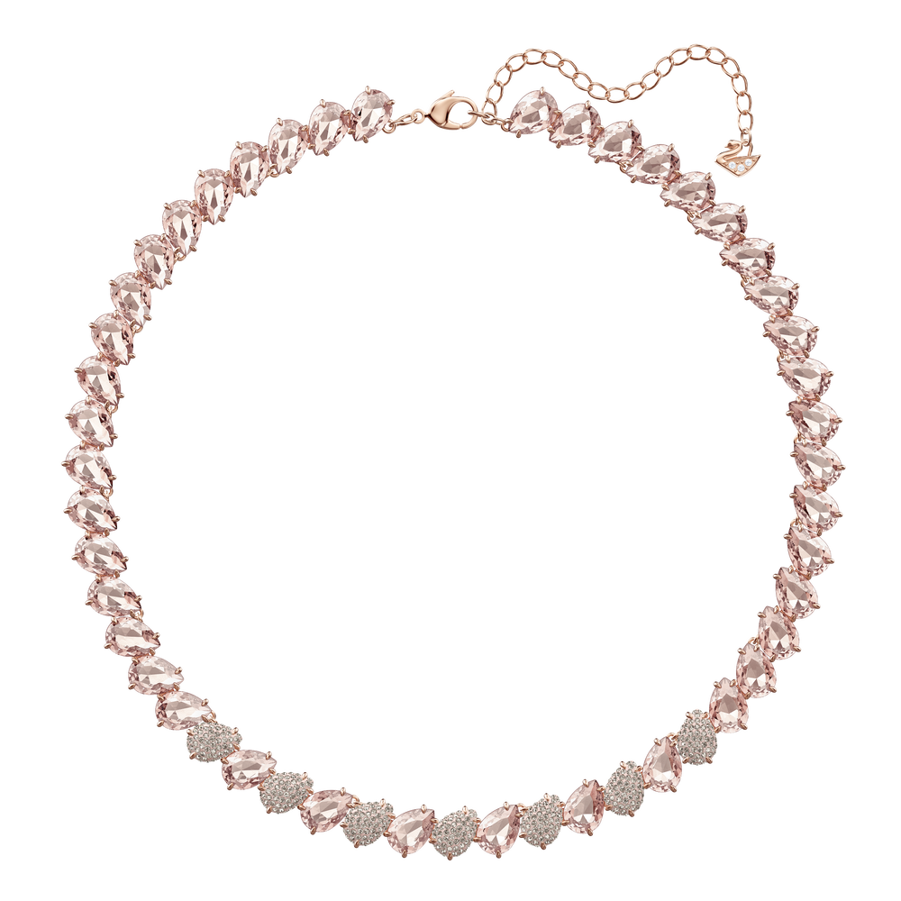 Mix Necklace, Pink, Rose Gold Plating