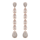 Mix Pierced Earrings, Pink, Rose Gold Plating