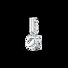Swarovski Remix Collection Charm, December, Blue, Rhodium Plating