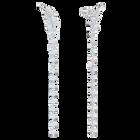 Nice Pierced Earrings, White, Rhodium plated