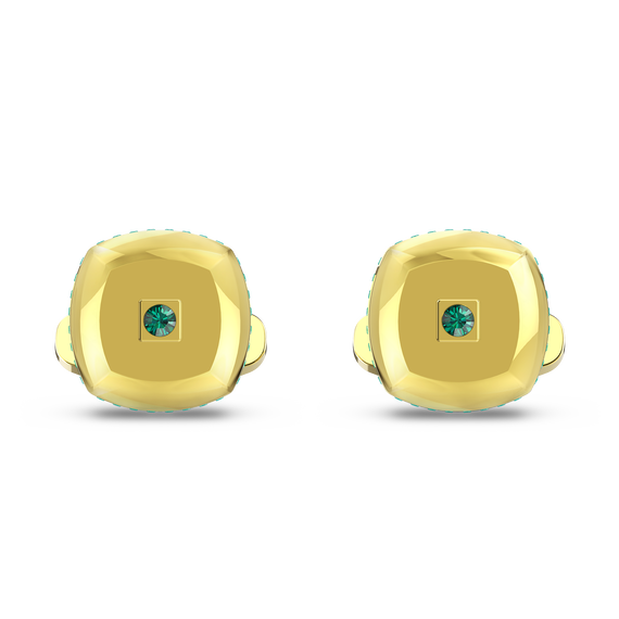 Theo Earth Element Cufflinks, Green, Gold-tone plated
