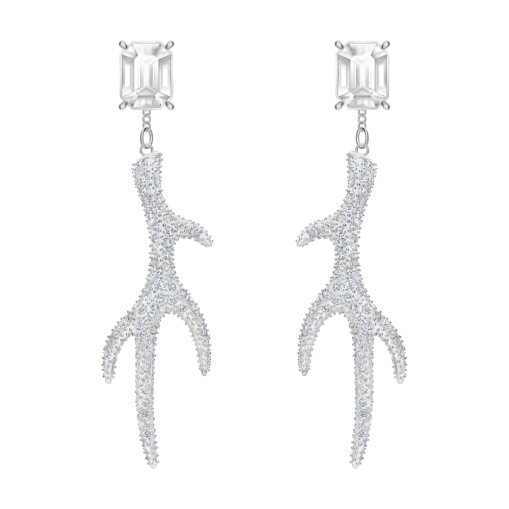 Polar Bestiary Pierced Earrings, Multi-colored, Rhodium plated