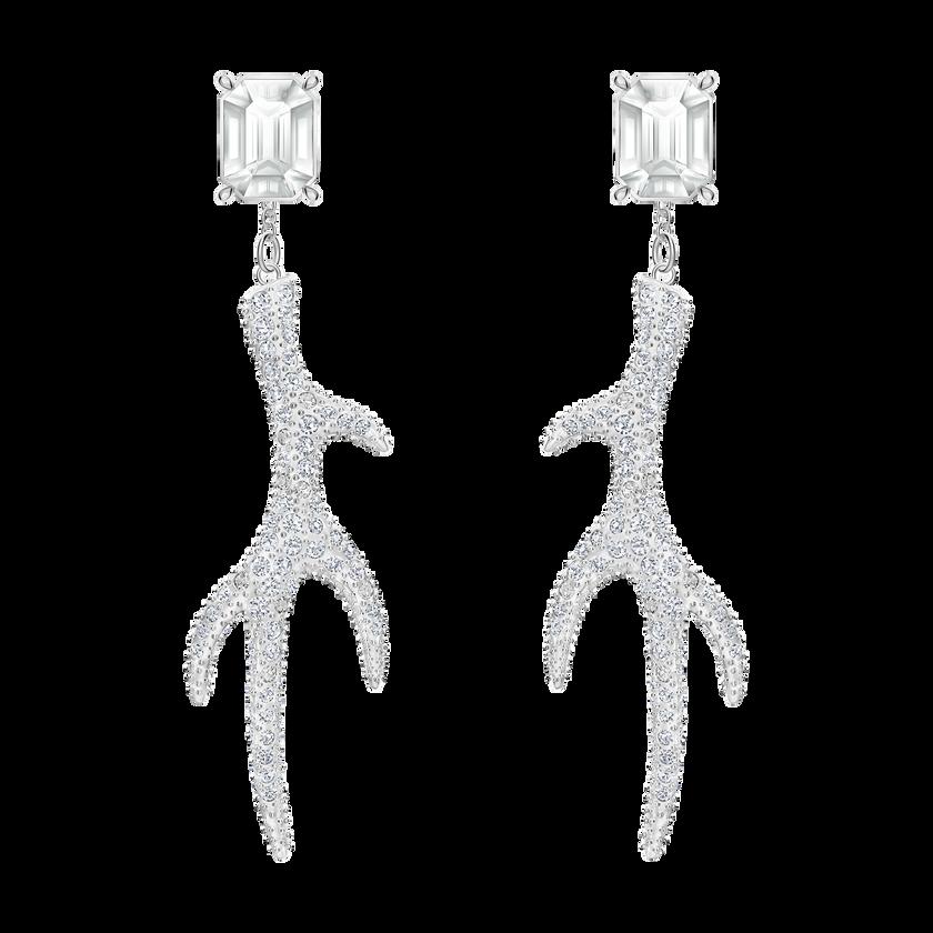 Polar Bestiary Pierced Earrings, Multi-colored, Rhodium plated