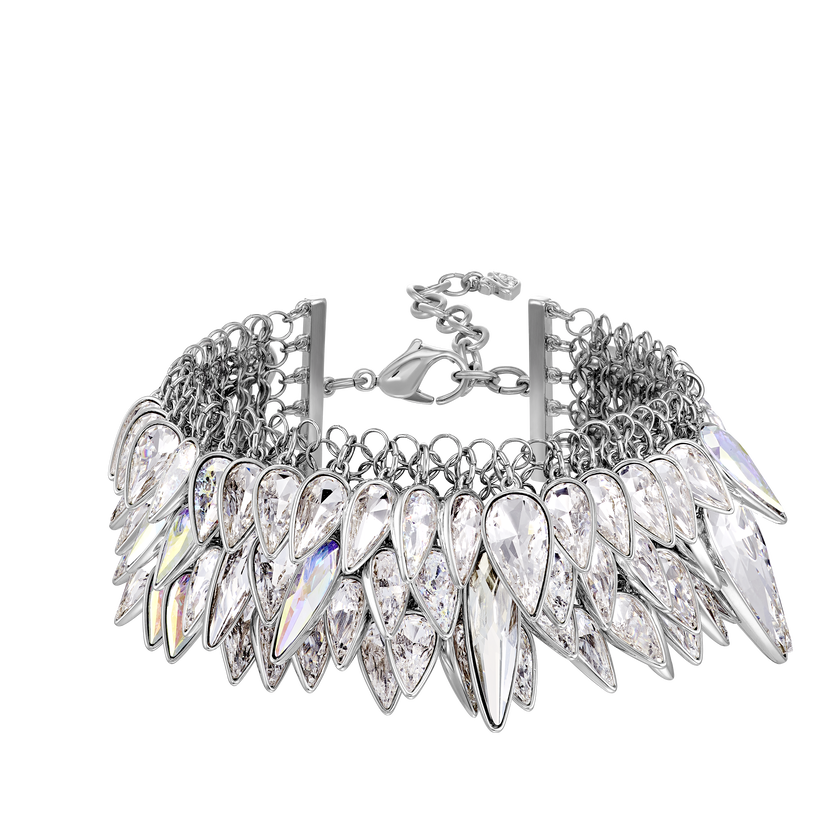 Polar Bestiary Bracelet, White, Rhodium plated