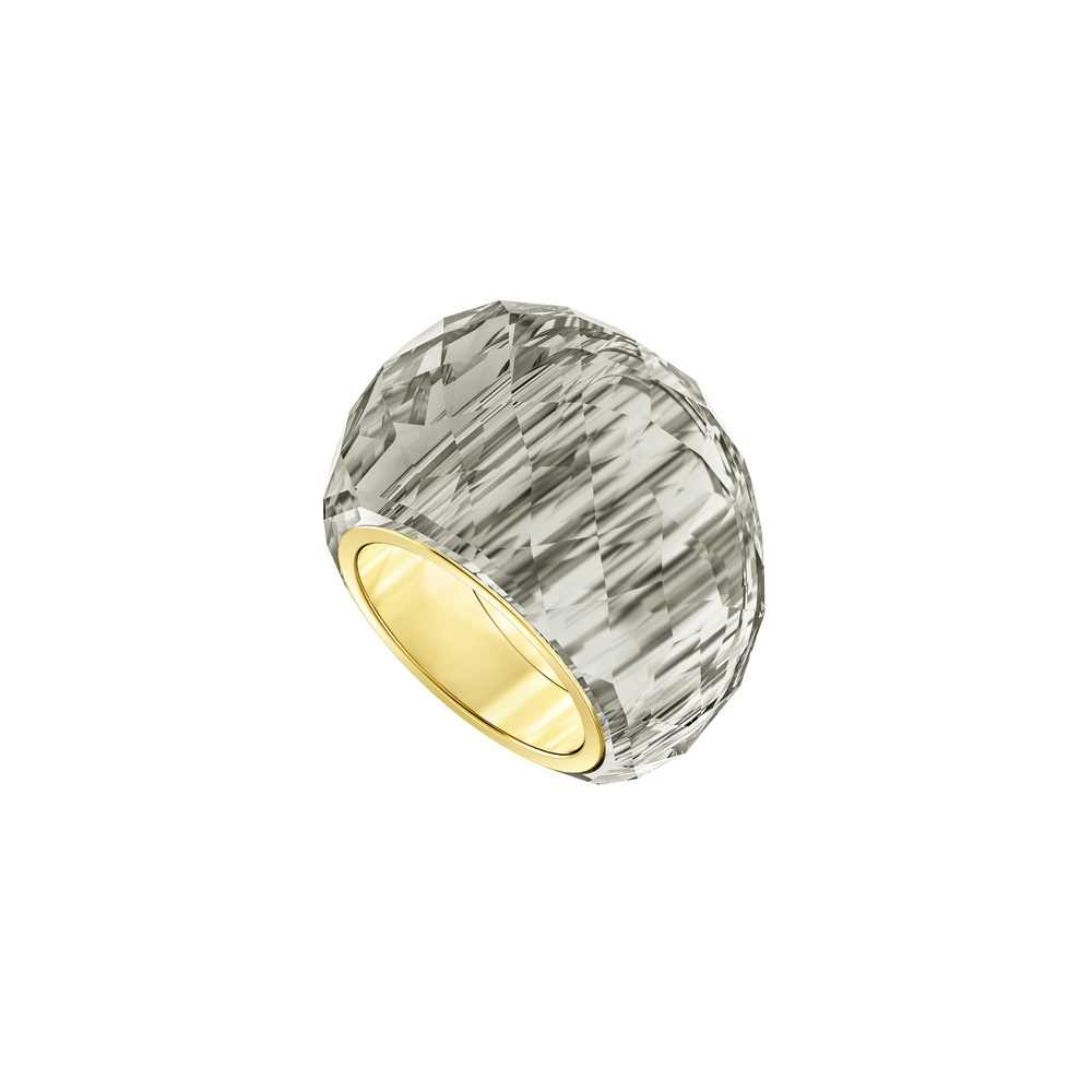 Nirvana Ring, Gray, Gold-tone PVD