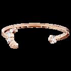 Penélope Cruz Moonsun Cuff, White, Rose gold plating
