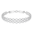 Lace Bracelet, White, Rhodium Plating