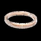 Twist bracelet, White, Rose gold-tone plated