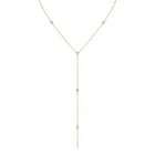 No Regrets Y Necklace, Multi-colored, Gold plating