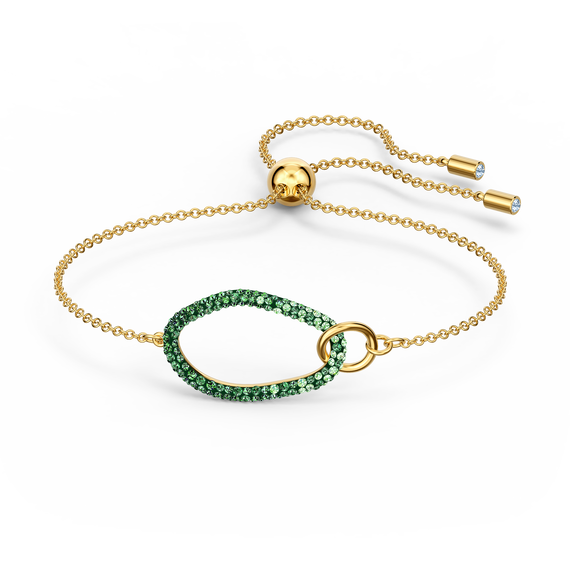 The Elements Bracelet, Green, Gold-tone plated