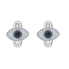 Unisex Evil Eye Cuff Links, Multi-colored, Stainless steel