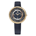 Crystalline Pure Watch, Black, Rose Gold Tone
