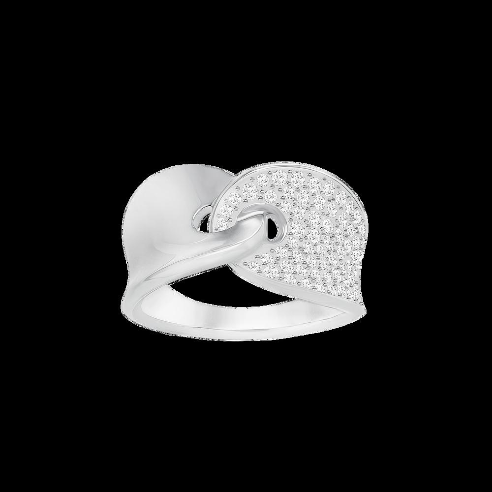 Guardian Ring, White, Rhodium Plating