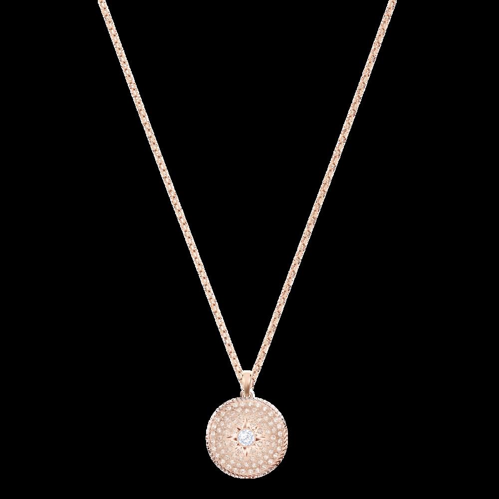 Locket Pendant, Pink, Rose gold tone plated