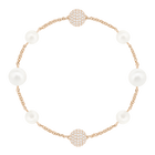The Swarovski Remix Collection, Mixed White Crystal, Pearl, White, Rose Gold Plated