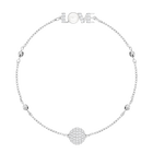 Swarovski Remix Collection Emotion Strand, White, Rhodium plated