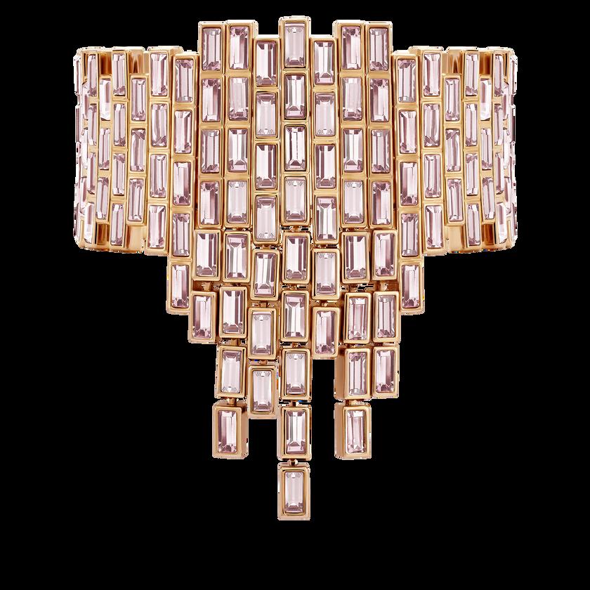 Fluid Statement Bracelet, Violet, Rose-gold tone plated