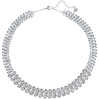 Baron All-Around Necklace, Blue, Rhodium Plated